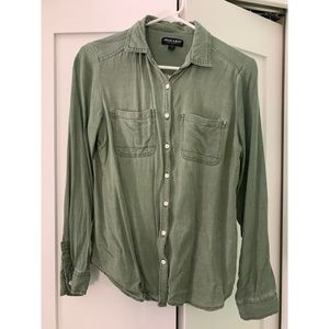 About a Girl- Green button down